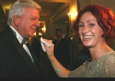 Hessischer Ministerpräsident Volker Bouffier I Heidi Debbah Maskenbildnerin und Visagistin