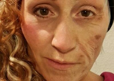 SFX Makeup , Altmaske, halb jung, halb alt / Heidi Debbah Maskenbildnerin und SFX Artist