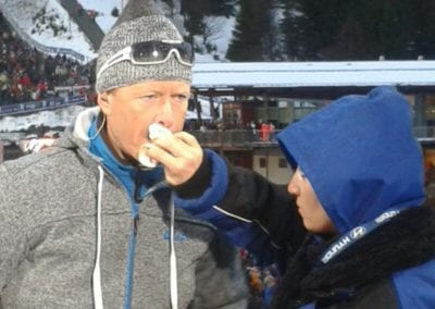 ARD Sportexperte Dieter Thoma, Skispringen in Willingen | Heidi Debbah Visagistin und Maskenbildnerin