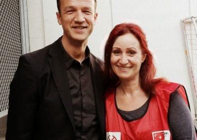 Fredi Bobic´, Vorstand bei Eintracht Frankfurt I Heidi Debbah Maskenbildnerin und Visagistin