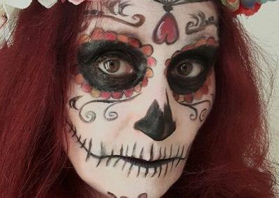 Tag der Toten Makeup, Muerta styling / Heidi Debbah Maskenbildnerin und Visagistin