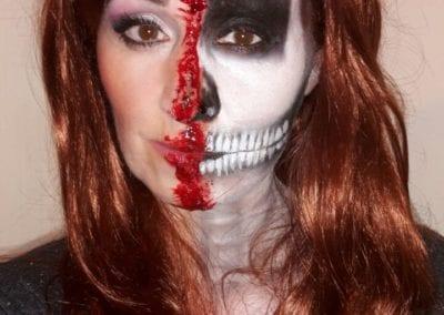 Half Face Makeup / Heidi Debbah Maskenbildnerin Visagistin