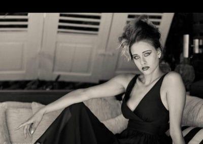 Modelshooting schwarz weiß / Heidi Debbah Visagistin und Hairstylistin