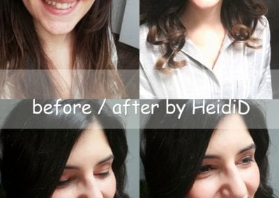 Vorher-Nachher, Beauty Makeup / Heidi Debbah Visagistin und Maskenbildnerin