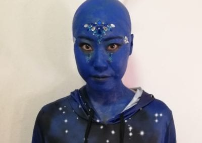 Alien Makeup in blau / Heidi Debbah Maskenbildnerin und Visagistin