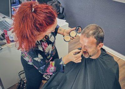 Fredi Bobic´ in der Maske I Heidi Debbah, Maskenbildnerin & Visagistin