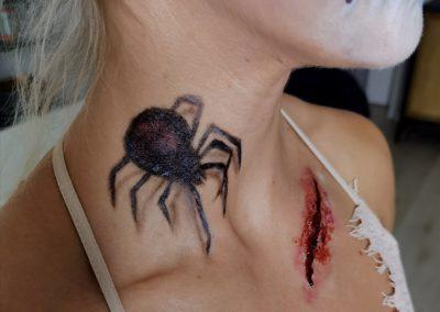 Spider Makeup und Schnittwunde I Maskenbildnerin Heidi Debbah